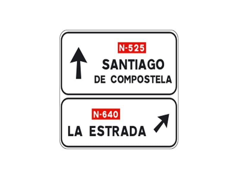 Señales de Tráfico de Orientación y Dirección