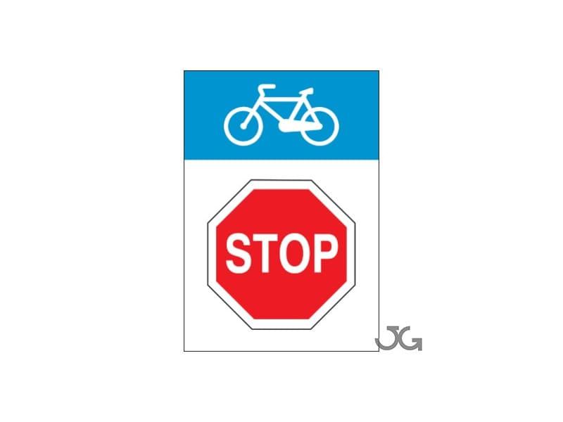 Señales para las vías de los ciclistas
